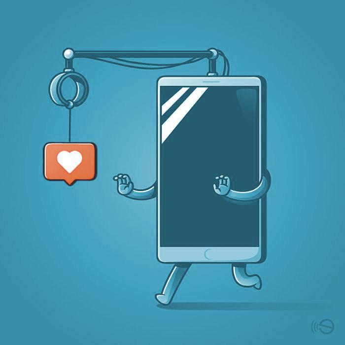 Social media likes en mobiel